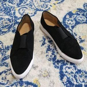 Franco Sarto Nadine Perforated Suede Sneaker Black